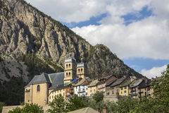 Briancon - franska Alps - Frankrike Arkivfoton