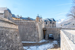 Briancon in Hautes Alpes, France. Fortified walls of Briancon in Hautes Alpes, France Royalty Free Stock Photos