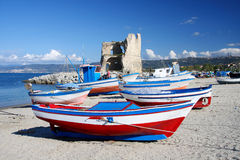 Briatico, harbor in Calabria, Italy Royalty Free Stock Images