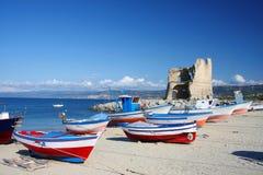 Briatico, harbor in Calabria, Italy stock images