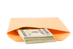 Bribe. A manila envelope filled with money. Somebody's getting paid Royalty Free Stock Photography