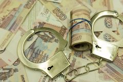 Bribe. arrested for bribery. caught red-handed - Stock Image . stock image