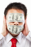 Bribe concept stock photos
