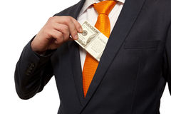 Bribe, concept for corruption Stock Photography