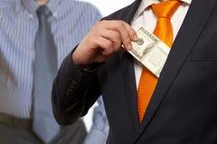 Bribe, concept for corruption Stock Image