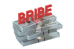 Bribe concept with dollars Stock Photo