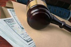 Bribe  in a court concept. Stock Photo