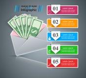 Bribe, envelope - Money business infographic. Vector eps 10 vector illustration