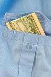 Bribe in his pocket Stock Photography