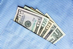 Bribe in his pocket Royalty Free Stock Image