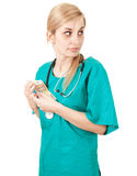 Bribe in medicine Royalty Free Stock Image