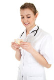 Bribe in medicine Stock Photography