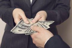 Bribe money Royalty Free Stock Photography