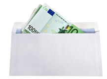 Bribery. Money is in a paper envelope stock photography