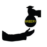 Bribery black vector art illustration Royalty Free Stock Image