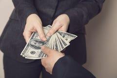 Bribery Royalty Free Stock Photography