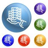 Bribery money give icons set vector royalty free illustration