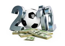 Bribery scandal Euro 2012. Football Royalty Free Stock Photography