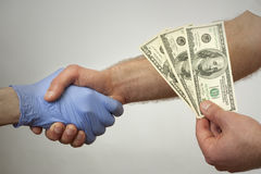 Bribes in medicine  Royalty Free Stock Photography