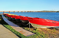 Bribie海岛小船 免版税库存图片