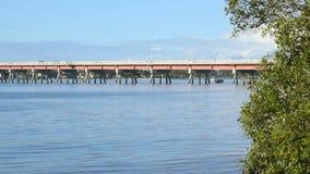Bribie-Brücke 1 stock footage