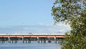 Bribie Bridge 2 stock footage