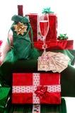 Bribing Santa Royalty Free Stock Image