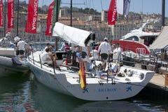 Bribon spanish team anchored in Marseille harbor Stock Images