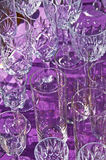 Bric-a-brac market with wine glasses Royalty Free Stock Photo