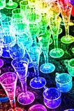 Bric-a-brac market with wine glasses Stock Photo