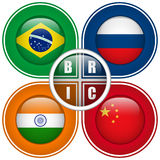 BRIC Countries Buttons. Vector - BRIC Countries Buttons Brazil Russia India China Royalty Free Stock Photo