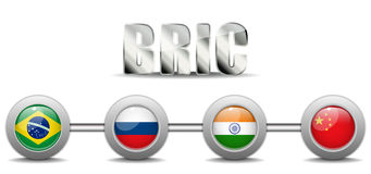 BRIC Countries Buttons. Vector - BRIC Countries Buttons Brazil Russia India China Stock Photo