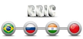 BRIC-länder knäppas Arkivfoto