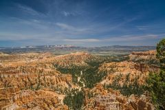 Brice Canyon valley over grand escalante utah. Brice Canyon National Park Utah. Picture of red rocks mountain terrain grand escalante utah royalty free stock photo