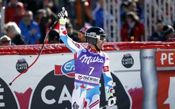 Brice Roger 2015 World Cup in Meribel Royalty Free Stock Image