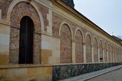 Brichmuur met deur royalty-vrije stock foto's