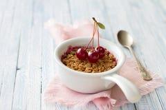 Briciola casalinga della ciliegia Immagine Stock Libera da Diritti