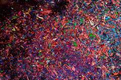 Briciole colorate della grafite fotografie stock