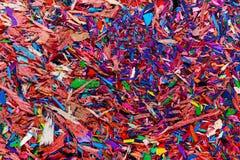 Briciole colorate della grafite immagini stock