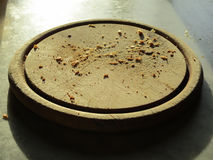 Briciole di pane su un piatto Immagini Stock Libere da Diritti