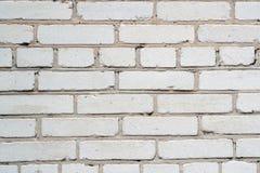 100/5000brick τοίχος του άσπρου τούβλου Στοκ φωτογραφία με δικαίωμα ελεύθερης χρήσης
