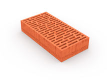 Brick. Red brick isolated on white with clipping path Stock Images