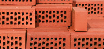 Brick. Red brick - building material - construction Stock Images
