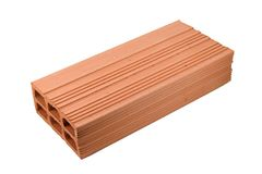 Brick. A single red brick for construction industry Royalty Free Stock Image
