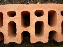 Brick. This is a tipical italian brick used to build up houses Stock Image