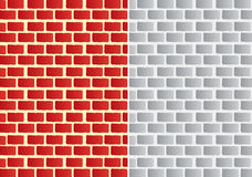 Brick. Two brick walls different colors Royalty Free Stock Photo