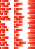 Brick. Different brick patterns on white Royalty Free Stock Image