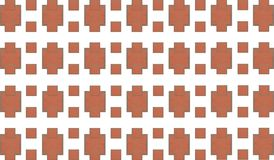 Brick abstract background. Pattern of stone mosaic trapezium infinite repetition Stock Images
