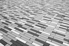 Brick abstraction in black and white Royalty Free Stock Image