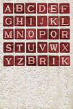 Brick alphabet Royalty Free Stock Photography